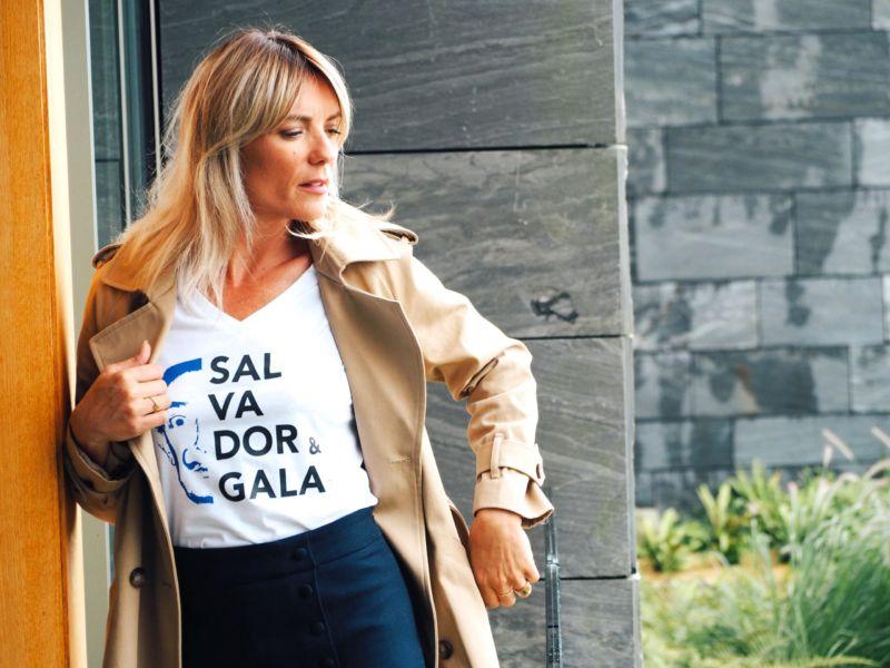 T-shirt Dali Bleu klein